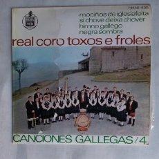 Discos de vinilo: REAL CORO TOXOS E FROLES - CANCIONES GALLEGAS VOL. 4. TDKDS19. Lote 177568547
