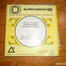 Discos de vinilo: EUROVISION 69. EP. DISCO DEMOSTRACION. BELTER. PROMOCIONAL. (#). Lote 177568649