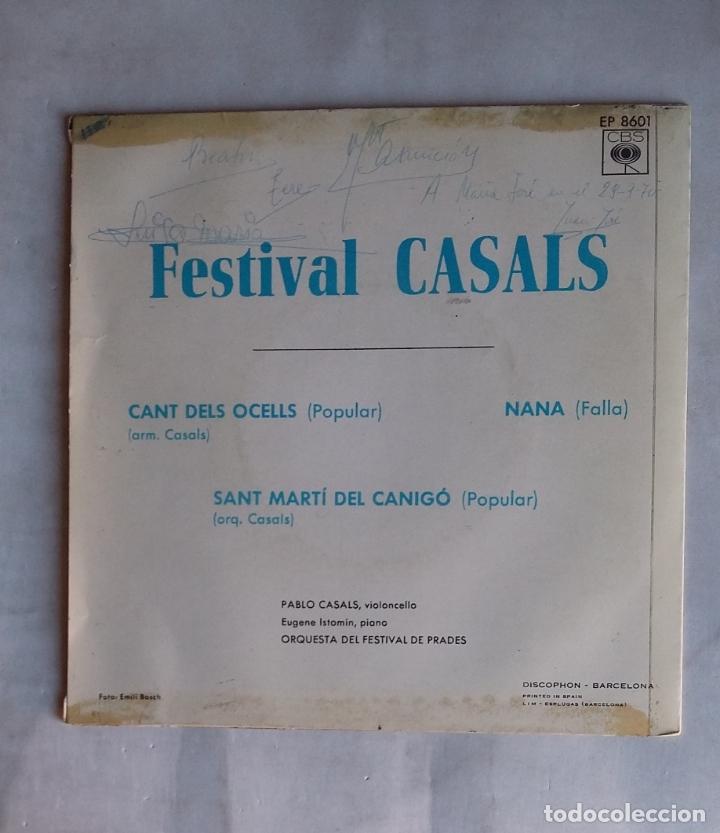 Discos de vinilo: FESTIVAL Pau Casals. El cant dels ocells. NANA. ST. MARTI DEL CANIGO. TDKDS19 - Foto 2 - 177568652