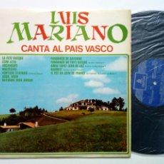 Discos de vinilo: LP: LUIS MARIANO - CANTA AL PAÍS VASCO (EMI ODEON, 1971) EN ESPAÑOL, EUSKERA Y FRANCÉS - PAYS BASQUE. Lote 177573582