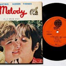 Discos de vinilo: FILM SOUND ORCHESTRA - MELODY - EP OVERSEAS RECORDS 1971 JAPAN (EDICIÓN JAPONESA) BPY. Lote 177574892