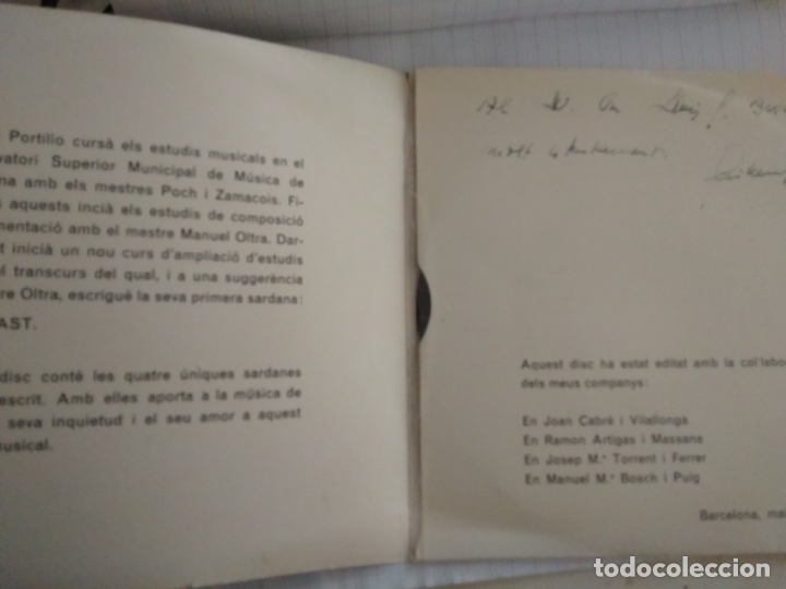 Discos de vinilo: COBLA BARCELONA - SARDANES CONTRAST - GUILLEM PORTILLO - Foto 3 - 177575519