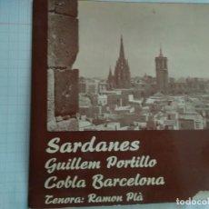 Discos de vinilo: COBLA BARCELONA - SARDANES CONTRAST - GUILLEM PORTILLO. Lote 177575519