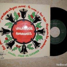 Discos de vinilo: VILLANCICOS ANDALUCES.CANTA PACO DE CORDOBA.1964.. Lote 177587318