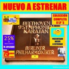 Discos de vinilo: BEETHOVEN 9 SYMPHONIEN - HERBERT VON KARAJAN - BERLINER PHILHARMONIKER - DEUTSCHE GRAMMOPHON - 8 LP. Lote 177597535