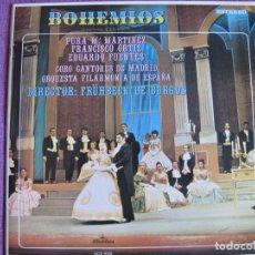 Discos de vinilo: LP - BOHEMIOS - FILARMONICA DE ESPAÑA, DR. FRUHBECK DE BURGOS (SPAIN, DISCOS ALHAMBRA 1979). Lote 177600154