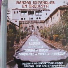 Discos de vinilo: LP - DANZAS ESPAÑOLAS EN ORQUESTA VARIOS (ORQUESTA DE CONCIERTOS DE MADRID, DR. JOSE Mª FRANCO GIL). Lote 177600312