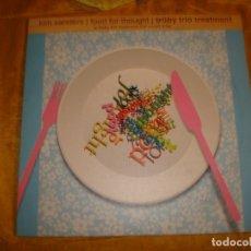 Discos de vinilo: KIM SANDERS. FOOD FOR THOUGHT / TRÜBY TRIO TREATMENT. GERMANY, 2001. 10 PULGADAS. IMPECABLE (#). Lote 177601059
