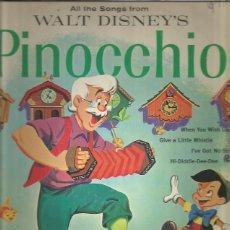 Discos de vinilo: WALT DISNEY PINOCHO. Lote 177602500