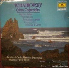 Discos de vinilo: TCHAIKOVSKY. OBRAS ORQUESTALES. FILARMÓNICA BERLÍN Y LENINGRADO, ORQUESTA ESTATAL DE DRESDEN.2LP. Lote 177605443