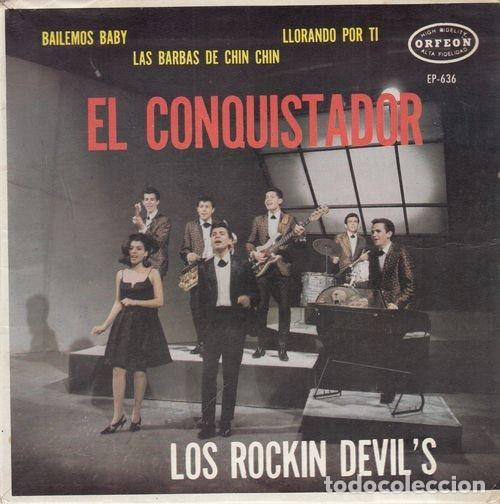 LOS ROCKIN' DEVILS - EL CONQUISTADOR - EP FREAKBEAT MOD MEJICANO (Música - Discos de Vinilo - Maxi Singles - Pop - Rock Extranjero de los 50 y 60)