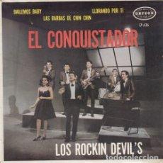 Discos de vinilo: LOS ROCKIN' DEVILS - EL CONQUISTADOR - EP FREAKBEAT MOD MEJICANO. Lote 177635037
