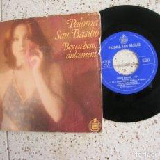 Discos de vinil: DISCO DE PALOMA SAN BASILIO ,BESO A BESO ,TIEMPO PERDIDO AÑO 1978. Lote 177636273