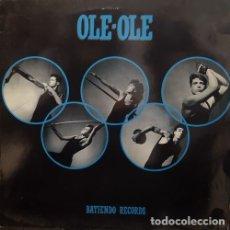 Discos de vinilo: OLE OLE - BATIENDO RECORDS - MAXI SINGLE DE VINILO PROMOCIONAL INCLUYE CONSPIRACY CANTADA EN INGLES. Lote 177637519