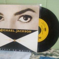 Discos de vinilo: MICHAEL JACKSON BLACK OR WHITE SINGLE SPAIN 1991 PDELUXE. Lote 177638302