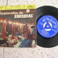 Discos de vinilo: DISCO FRAGMENTOS DE ZARZUELAS. Lote 177638632