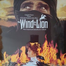 Discos de vinilo: BANDA SONORA DE LA PELÍCULA THE WIND AND THE LION LP SELLO ARISTA SELLO MGM EDITADO EN INGLATERRA.... Lote 177639490
