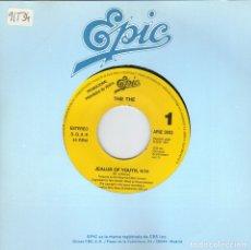 Discos de vinilo: THE THE - JEALUS OF YOUTH SINGLE PROMO SIN PORTADA 1991 SPAIN RARO. Lote 177646679