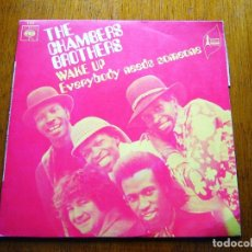 Discos de vinilo: THE CHAMBERS BROTHERS - WAKE UP 1969 FUNKY PSYCH SOUL ORIGINAL SINGLE. Lote 177647549