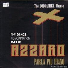 Discos de vinilo: AZZARO - PARLA PIU PIANO - BSO THE GODFATHER THEME - DANCE RE ADAPTATION MIX SINGLE PROMO 1992. Lote 177649663
