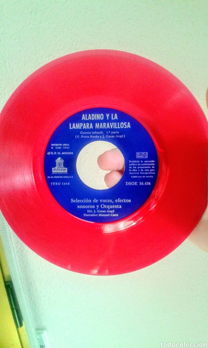 Discos de vinilo: Aladino y la lampara maravillosa. - Foto 2 - 177654549