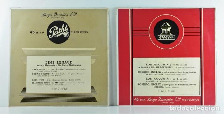LINE RENAUD - CARAVANA DE LA NOCHE - RON GOODWIN & ROBERTO INGLEZ (Música - Discos de Vinilo - Maxi Singles - Canción Francesa e Italiana)