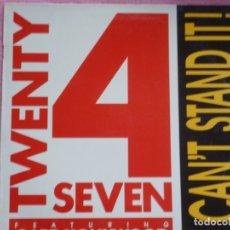 Disques de vinyle: TWENTY 4 SEVEN,I CAN´T STAND IT DEL 90. Lote 177669742