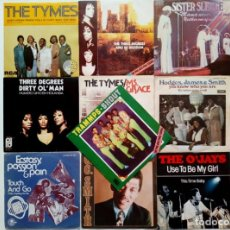 Discos de vinilo: LOTE 10 SINGLES - SOUL - PHILLY SOUND - PIR - ATLANTIC: TRAMMPS, TYMES, O'JAYS, SISTER SLEDGE.... Lote 177672308