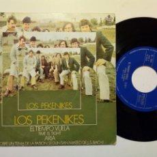 Discos de vinilo: SINGLE: LOS PEKENIKES - EL TIEMPO VUELA (TIME IS THIGHT) + ARIA (HISPAVOX, 1969). Lote 177679407