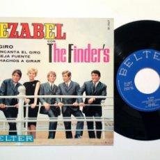 Discos de vinilo: EP (1965) - JEZABEL CON THE FINDER'S: EL GIRO + ME ENCANTA EL GIRO + 2 (BELTER, 1967) - YE-YE, 60'S. Lote 177680359