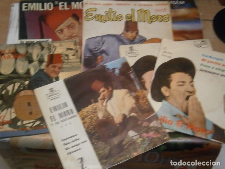 Discos de vinilo: LOTE DE EMILIO EL MORO¡¡ NOSE ADMITE DE VOLUCIONES¡¡ - Foto 2 - 177685244