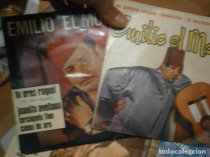 Discos de vinilo: LOTE DE EMILIO EL MORO¡¡ NOSE ADMITE DE VOLUCIONES¡¡ - Foto 4 - 177685244