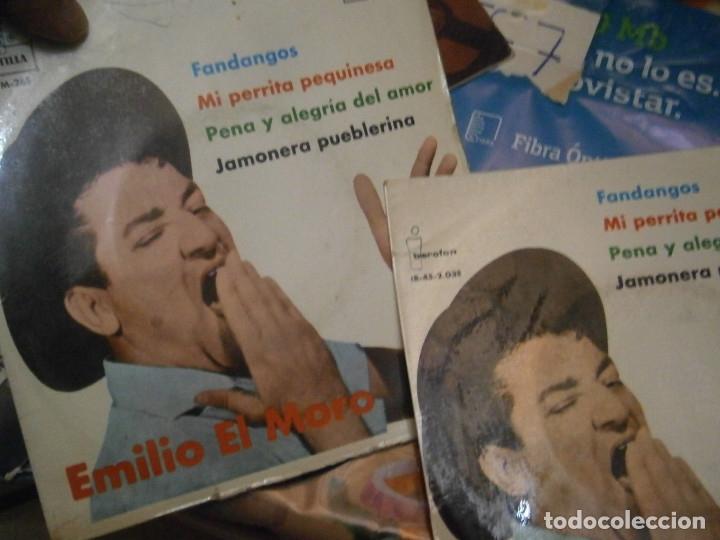 Discos de vinilo: LOTE DE EMILIO EL MORO¡¡ NOSE ADMITE DE VOLUCIONES¡¡ - Foto 5 - 177685244