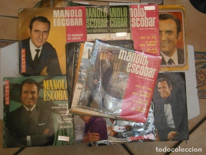 18 DISCOS MANOLO ESCOBAR,, NOSE ADMITE DE VOLUCIONES¡¡ (Música - Discos de Vinilo - Maxi Singles - Flamenco, Canción española y Cuplé)