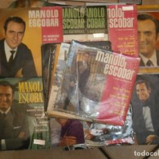 Discos de vinilo: 18 DISCOS MANOLO ESCOBAR,, NOSE ADMITE DE VOLUCIONES¡¡. Lote 177685538