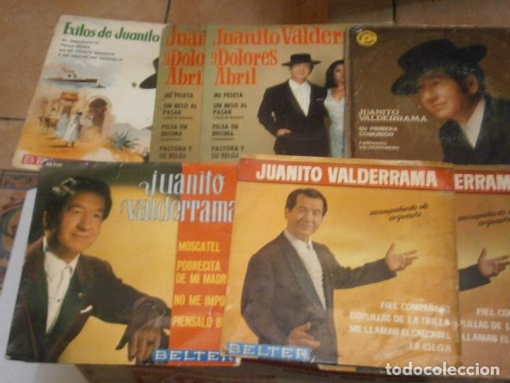 LOTE DE 7 DISCOS JUANITO VALDERRAMA'' NOSE ADMITE DE VOLUCIONES¡¡ (Música - Discos de Vinilo - Maxi Singles - Flamenco, Canción española y Cuplé)