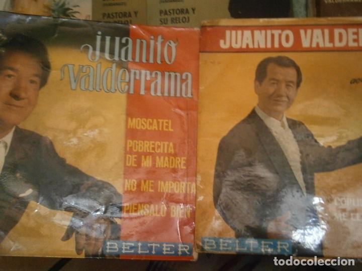 Discos de vinilo: LOTE DE 7 DISCOS JUANITO VALDERRAMA NOSE ADMITE DE VOLUCIONES¡¡ - Foto 3 - 177685635