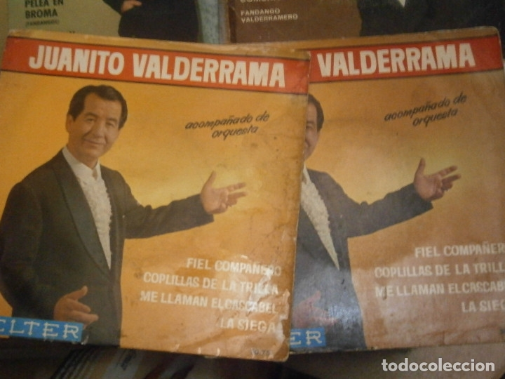 Discos de vinilo: LOTE DE 7 DISCOS JUANITO VALDERRAMA NOSE ADMITE DE VOLUCIONES¡¡ - Foto 4 - 177685635
