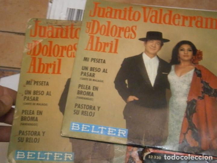 Discos de vinilo: LOTE DE 7 DISCOS JUANITO VALDERRAMA NOSE ADMITE DE VOLUCIONES¡¡ - Foto 6 - 177685635