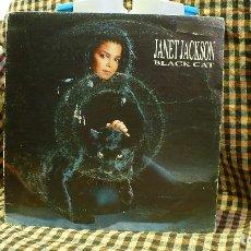 Discos de vinilo: JANET JACKSON – BLACK CAT / THE 1814 MEGAMIX, A&M RECORDS – 390 572-1, 1990.. Lote 177688044