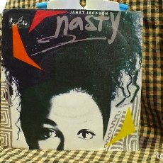 Discos de vinilo: JANET JACKSON – NASTY / YOU'LL NEVER FIND, A&M RECORDS – 390098-7, 1986.. Lote 177688253