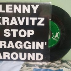 Discos de vinilo: LENNY KRAVITZ STOP DRAGGIN AROUND SINGLE SPAIN 1992 PDELUXE. Lote 177689048