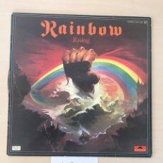 Discos de vinilo: RAINBOW RISING LP VINILO (HARD ROCK, HEAVY METAL). Lote 177695002