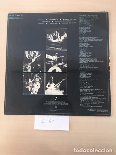 Discos de vinilo: RAINBOW RISING LP VINILO (HARD ROCK, HEAVY METAL) - Foto 2 - 177695002