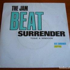 Discos de vinilo: THE JAM - BEAT SURRENDER 1982 MOD REVIVAL ORIGINAL SINGLE. Lote 177701524