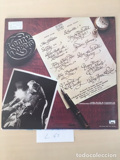 Discos de vinilo: KENNY ROGERS DISCO VINILO LP - Foto 2 - 177712132