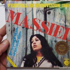 Discos de vinilo: SINGLE -MASSIEL -LA,LA,LA 1968 EN FUNDA ORIGINAL. Lote 177717015