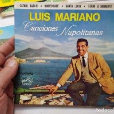 Discos de vinilo: SINGLE-LUIS MARIANO-CANCIONES NAPOLITANAS DE EMI ,LA VOZ DE SU AMO 1963 EN FUNDA ORIGINAL. Lote 177717594