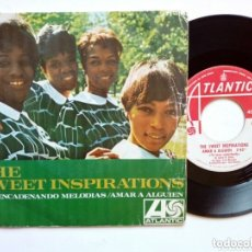 Discos de vinilo: SINGLE - THE SWEET INSPIRATIONS: UNCHAINED MELODY + TO LOVE SOMEBODY (ATLANTIC, 1968) SOUL R&B . Lote 177717784