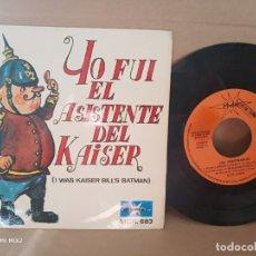 Discos de vinilo: LOS MILLONARIOS/ YO FUI EL ASISTENTE DEL KAISER EP 1967. Lote 177720370